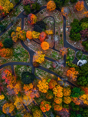 Woodbrook Cemetery (TomBerrigan) Tags: drone aerial dji phantom woburn mass boston massachusetts foliage new england