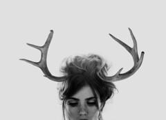 (Marcin Lichowski) Tags: collage photomontage design woman sexy horns deer vintage marcin lichowski marcinlichowski hair light eyes face portrait cornada horned dangerous danger female