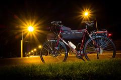 Trucking home after the Night-Shift (ibikenz) Tags: intergalacticsurlybikes c17 rx100 sonycybershotdscrx100 bicycle bicyclecommuter bike bikecommuter brooks disctrucker longexposure night revelatedesigns