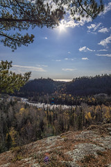 Sunny Day (Portraits of Nature) Tags: sun sunny sky clouds trees lookout river mountains nature outdoors hiking