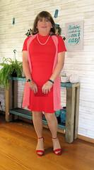 Red Heels (Trixy Deans) Tags: tgirl tv transgendered transvestite tranny tgirls xdresser sexy sexytransvestite sexyheels sexylegs cute dress dresses crossdresser crossdress elegant feminine legs longskirt minidress hot heels highheels heelssexy