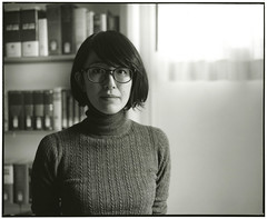Librarian (Tamakorox) Tags: library librarian highschool portrait art japan japanese asia lights shadow pleasure film analoguecamera b&w mamiyarb67prosd kodaktmax400 fujibrovarigradewp 日本 日本人 光 影 喜び 司書 高等学校 ポートレート