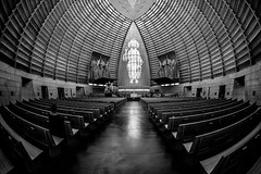 God's Architecture (Thomas Hawk) Tags: america bayarea california cathedralofchristthelight catholic eastbay oakland usa unitedstates unitedstatesofamerica westcoast architecture bw church fav10 fav25 fav50 fav100