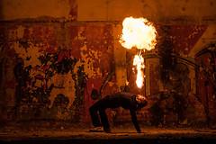 Fire dancer (Hans-Toomas Saarest) Tags: fire dance firedance dancer blow breathe factory red oragne estonia trisalu explosion tuli tuletantsija tuletansijad tantisja tantisjad puhuma punane eesti raketibaas