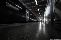Station Space Pt.3 (Kieran Williams Photography) Tags: colour color composition comment canon camera contrast cold colors colours city angle architecture abstract sky speed shutter shadow saturate silhouette skyline saturation view viewpoint vehicle photo photography perspective priority pattern light like life landscape lens lights low london lines leadinglines