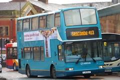 LJ51DLK Arriva North West DAF DB250 4171 (Sharksmith) Tags: bus birkenhead lj51dlk arriva arrivanorthwest dafdb250 plaxtonpresident 4171 dlp69 arrivalondon route413 busstation