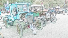 WP_20140126_339 The vintage car and the toy boy (Rodolfo Frino) Tags: car cars automobile automobil coche boy toy ford vintage fordt pastel pastelcolors colorful green cyan lightblue soft subtle manmade object objects sydney exhibition carexhibition flag art artistic old viejo downtown australia auto digital