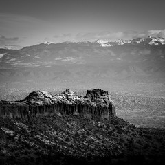 Anderson Overlook (Mabry Campbell) Tags: 2013 andersonoverlook december houstonphotographer mabrycampbell nm newmexico santafe us usa unitedstatesofamerica unitedtates blackandwhite commercialphotography editorialphotography fineartphotographer fineartphotography image landscape photo photograph photographer photography rockformation winter f71 december242013 20131224h6a8750 200mm sec 100 ef200mmf28liiusm