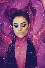 Julz in Purple (Szmytke) Tags: scotland model platinum julia luz bath bathing costume purple water dye portrait