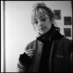 ashely (Ren Sterling) Tags: election day show cash4 smells bowery manhattan nyc new york city art portrait rolleiflex ilford delta 3200