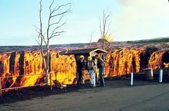 #Lava waterfall from the Mauna Ulu eruption, Hawaii Volcanoes National Park, 1970s. [1400 x 920] #history #retro #vintage #dh #HistoryPorn http://ift.tt/2gU4eYf (Histolines) Tags: histolines history timeline retro vinatage lava waterfall from mauna ulu eruption hawaii volcanoes national park 1970s 1400 x 920 vintage dh historyporn httpifttt2gu4eyf
