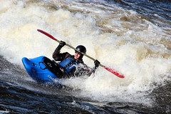 Yeeee haaaaa!!!!!! (zJMac) Tags: ontario canada cold standing canon river kiss kayak day ottawa paddle wave spray t3i x5 600d zjmac