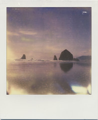 haystack rock (daveotuttle) Tags: polaroid sx70 testfilm impossibleproject px680