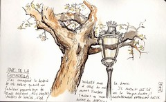 Parc de la Ciutadella, Barcelone. (Tazab) Tags: barcelona moleskine watercolor sketch drawing picture sketchbook watercolour carnet