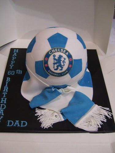 Chelsea Soccer Ball Cake