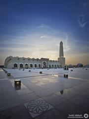 Masjid Al-Dawla (Qatar) (RASHID ALKUBAISI) Tags: sunset sun nikon fx d3 doha qatar rashid d4 مسجد جامع غروب راشد خليفة قطر d3x الدوله nikond4 alkubaisi d3s ralkubaisi mygearandme الكبسي wwwrashidalkubaisicom