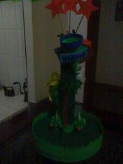 Baleiro em cones com o tema Madagascar (Andressa Duarte Artesanato em E.V.A) Tags: eva castelo carros convite madagascar bailarina baleiro festainfantil lembrancinha enfeitesdemesa chádefralda