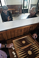 Na! (georgekamelakis) Tags: game color reflection men mirror village crete backgammon tavli georgekamelakis
