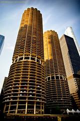 Marina City (Jeff_B.) Tags: chicago illinois shadows highrise chicagoriver residential statestreet marinacity 1964 corncob bertrandgoldberg
