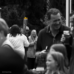 Burrelton torch bearer (P&KC Archive) Tags: sport photography scotland community perthshire streetscene celebration 20thcentury relay olympicflame torchrelay localhistory olympictorch torchbearers historicevent civicpride perthandkinross ecsochistory recordinghistory