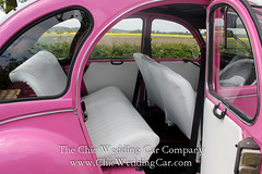 Rosie in the country-21 (magicalnights) Tags: pink wedding car derbyshire 2cv chic weddingcar shabbychicwedding sexyweddingcar 2cvweddingcar