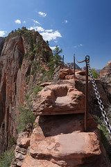 Narrow Trail (no3rdw) Tags: park outdoors utah dangerous rocky hike landing trail national angels zion steep