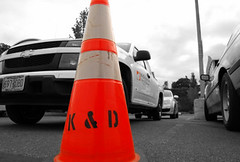 K&D Services - Traffic Management (trident2963) Tags: seattle bw industry oregon truck portland lights washington cool construction traffic cone awesome sharp management reflective leading flagger services everett kd livery flagging lightbar striping knd kndservices