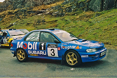 Killarney rally of the lakes 1994 (Aidophoto) Tags: ireland cars car nikon action rally kerry wrc subaru nikkor impreza sti rallye motorsport 555 prodrive rallying rallie bertiefisher killarneyrallyofthelakes1994