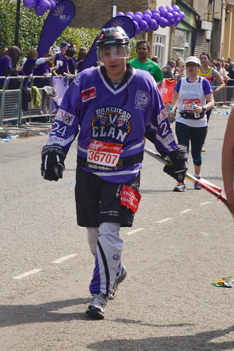 Braehead Clan fan Mark Barrow in full team uniform