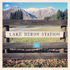Lake Heron Station #newzealand #canterbury #landscape #mountain (geoftheref) Tags: square sierra squareformat iphoneography instagramapp uploaded:by=instagram foursquare:venue=51a0472b498ef127650f84f7