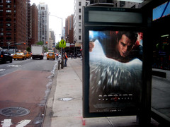 Superman 0470 (Brechtbug) Tags: street new york city nyc blue red man work dark comics painting movie poster square book dc paint theater comic near steel character alien bat working broadway s superman billboard advertisement adventure hero superhero billboards knight worker shield times insignia krypton 46th 2013