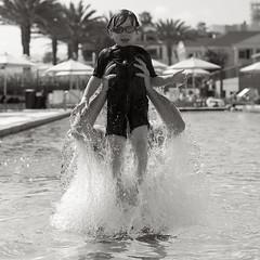 Walk on water (catherinelaceyphoto) Tags: ocean family boy house love beach water girl swim canon children fly kid jump dad child father 4 joy daughter mother son splash annenberg