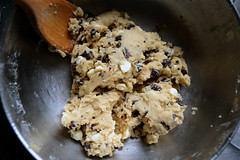 cookie dough. (nisharatanpara) Tags: baking cookie chocolate dough chip mixing