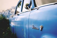 Meteor ( CHRISTIAN ) Tags: auto blue urban classic ford car 35mm vintage graffiti nikon focus automobile dof montral bokeh tag voiture bleu meteor pdc urbain gwim