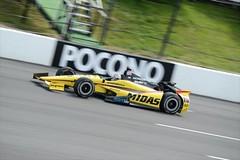 Graham Rahal rolls down the front stretch at Pocono Raceway (IndyCar Series) Tags: grahamrahal meteringmode5 isospeedrating500 rahallettermanlaniganracing exposure105000 fnumber8010 focallength300010 cameranikond4 poconoindycar400