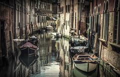 parallel parking | venezia (elmofoto) Tags: travel venice italy reflection water boats canal travels nikon europe italia fav50 fav20 fav30 venezia canale 500v d800 70200mm 1000v fav10 fav100 fav40 5000v fav60 2500v fav90 fav80 fav70 nikond800 elmofoto lorenzomontezemolo tidder