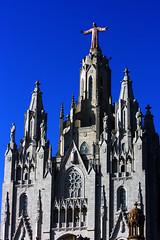 IMG_7040Axx (kanizfotolio) Tags: barcelona travel blue sky mountain canon lens eos europe cathedral bcn eu chruch kits tibidabo 400d