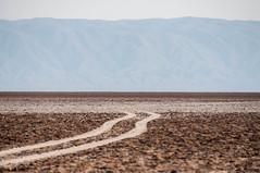 Escape from scorched land (Miroslav Zdrale) Tags: road lake mountains sahara desert tunisia salt land atlas chotteljerid