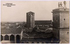 Landscape with tower Udine 1918 (spadon75) Tags: duomo castello 1918 udine campanileduomoudine