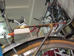 Tidy Wires (jimgskoop) Tags: blue bicycle cycling pelican custom racks randonneur boxdogbikes 2013 bdb eyefi