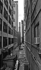 Alley Way NYC (joshgentry1992) Tags: blackandwhite newyork architecture grime deserted