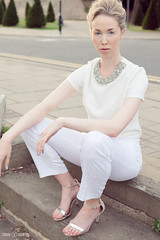 White Summer (Sarah Victoria - Fashion Photographer) Tags: summer white sunglasses fashion vintage river fashionphotography balcony riverbank beehive fashioneditorial ss13