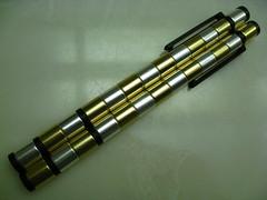 Polar Pen (Kickstarter Ed.) - IMG_4531 (tend2it) Tags: pen silver gold shapes modular cylinder stylus polar compass magnetic neodymium andrewgardner kickstarter polarpen