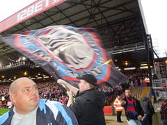 Crystal Palace v Liverpool (2014) (Paul-M-Wright) Tags: crystal palace v liverpool 05 may 2014 premier league football match selhurst park london uk england holmesdale fanatics ultra supporters ultras supporter cpfc flag flags soccer