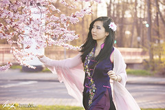 The Spring is calling... (InsaneAnni) Tags: portrait germany cherry costume spring vietnamese dress traditional blossoms frhling chemnitz kostm tracht kirschblten   vietnamesin