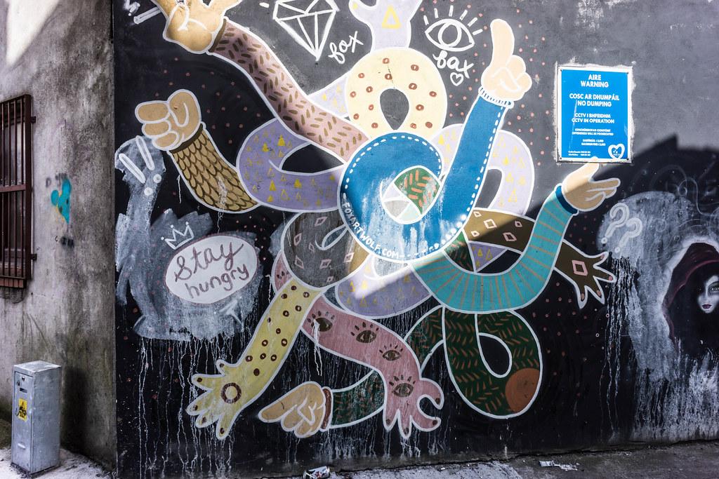 STREET ART IN DUBLIN - CABRA PARK URBAN GALLERY [A REALLY UGLY LANE]-104064