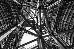 Estructura imposible / Impossible structure (D. Lorente) Tags: bw nikon structure bn bilbao guggenheim impossible estructura imposible dlorente