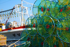 Taking Stock (Boyd Images) Tags: green port outdoors pier boat fishing harbour southkorea nets pohang