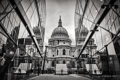 New Change St Paul's (grahamvphoto) Tags: england blackandwhite london monochrome st architecture paus