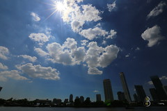 Make the sun be star! (Cathy's Tang) Tags: blue light clouds canon thailand iso100 riverside bangkok sunny f22 6d 1200s ef1635mm